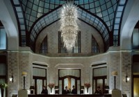 Four Seasons Hotel - Gresham Palace - Custom Chandelier at Lobby Reception