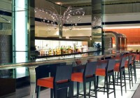 Hyatt Hotel - Restaurants - Backlit Arch at Bar