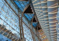 The Meydan Hotel - View of Main Atrium Lighting