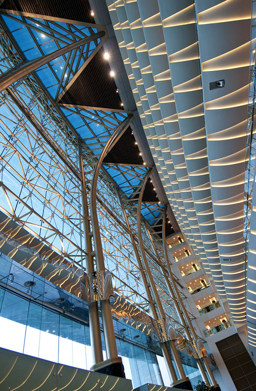 The Meydan Hotel - View of Main Atrium Lighting & lux et veritas design | The Meydan Hotel - lux et veritas design azcodes.com