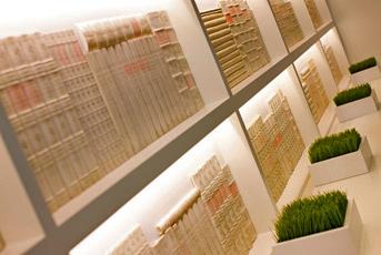 W Buckhead - Concealed LED Lighting Illuminate Carved Books & lux et veritas design | W Buckhead - lux et veritas design azcodes.com